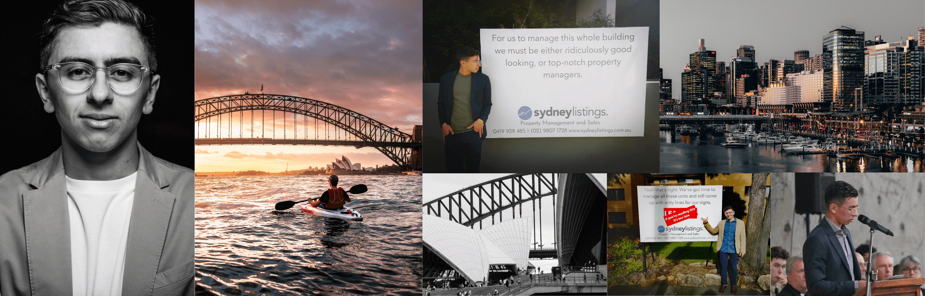 Sydney Listings Property Management, Signboards, and pictures of Sydney our place of work