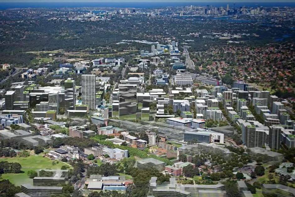 Birds Eye view of Macquarie Park